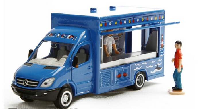 siku 1933 mobile shop truck van 1 50 with two dolls alloy model car toy child gift collection in. Black Bedroom Furniture Sets. Home Design Ideas