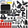 Dsdaction para gopro accesorios juego de go pro hero 5 4 3 kit montaje para sj4000 sjcam/xiaomi yi cámara/eken h9 trípode 12i