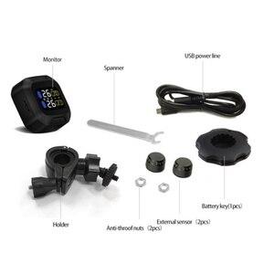 Image 5 - オリジナルエンジンタイヤ空気圧監視システムワイヤレス TPMS オートバイタイヤ警報 2 外部センサーモトツール