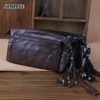 Luxury Brand Vintage Handmade Genuine Vegetable Tanned Leather Cowhide Women Long Wallet Wallets Women S Purse