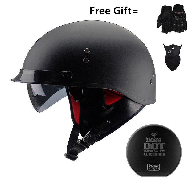 Adult white vintage Open Face Half Helmet Harley Moto Motorcycle Helmets Motorcycle Motorbike Vespa with two