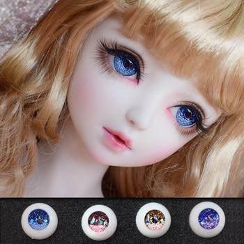 Bybrana Sd doll bjd doll eyeball 12mm 14mm 16mm 18mm glass eyeball simulating human pressure eyes 12mm 14mm 16mm 18mm for bjd doll sd luts dod as gc53