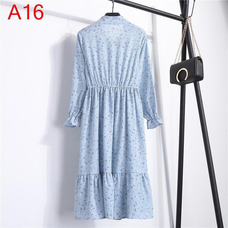 Korean Black Shirt Vestidos Office Polka Dot Vintage Autumn Dresses Women Winter Dress 19 Midi Floral Long Sleeve Dress Female 54