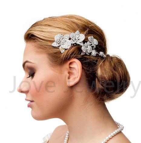 Modni poročni dodatki Charm avstrijski kristalni cvetlični list - Modni nakit - Fotografija 2