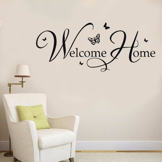 wall decal welcome home wall sticker home diy vinyl wall mural