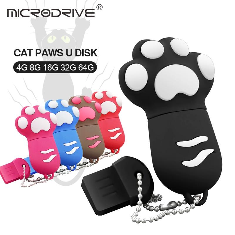 Cute Cat Claw Usb Flash Drive 6 Colors Pen Driv Stick 4gb 8gb 16gb 32gb 64gb Memory Sticks Best Gift Pen Drive Flash U Disk Unequal In Performance