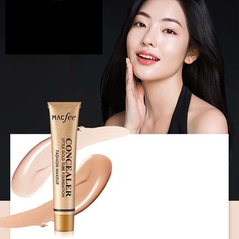 Face Make Up Concealer Little Gold Tube Liquid Foundation Makeup Primer Spots Acne Marks Dark Circles Pores Moisturize Concealer