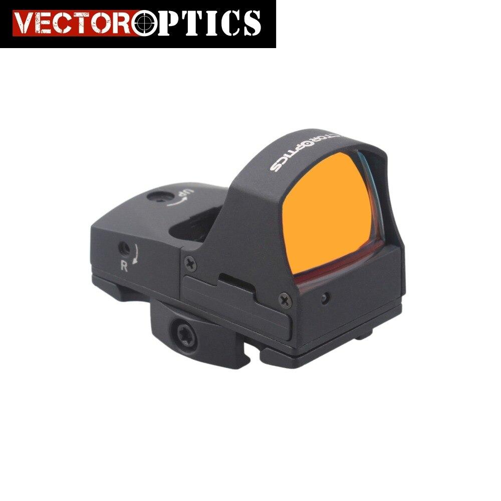 Vector Optics Mini feux automobiles Sens 1x25 viseur point rouge Portée Mini Pistolet sur/off idéal pour 21mm Picatinny GLOCK 17 19