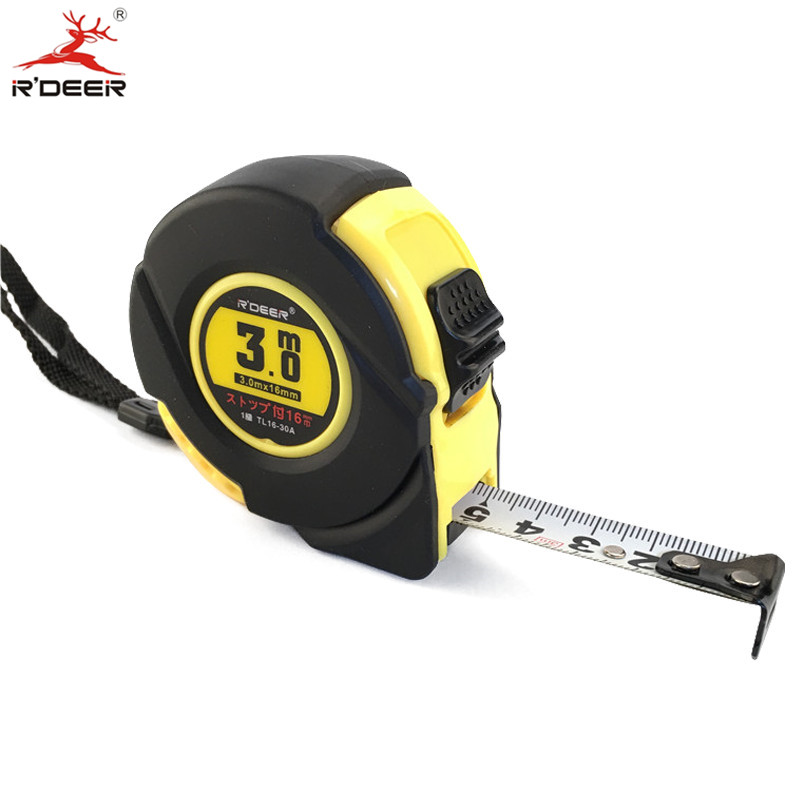 Tape Measure 3M Width 30mm Metric Measuring Tapes With Hand Strap Belt Clip Thumb Lock Double-sided Thicken TAJIMA Quality ...