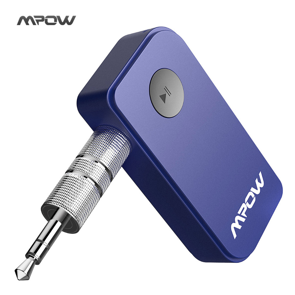Mpow Wireless Bluetooth Receiver 3.5mm Jack Bluetooth Audio Music Receiver Adapter With Car Aux