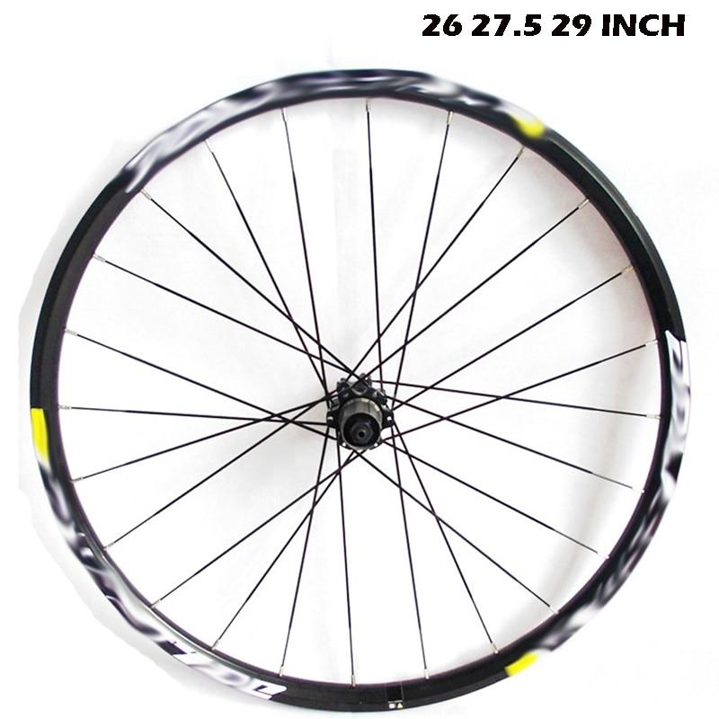 High Quality Road Bicycle Wheel Set 26 27.5 29 Inch Wheel Disc Version Of The Bike Wheel Mountain Bicycle lock MTB Bike Wheelset high quality odm 96teeth xh timing wheel