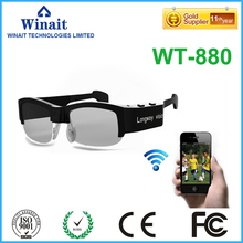 winait 2016 hot sell wifi camera sunglasses with 3MP cmos sensor and HD720p video wifi camera sunglasses free shipping
