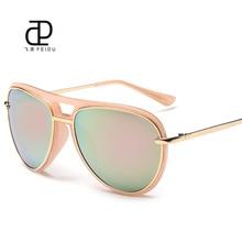FEIDU 2016 Clásicas Gafas de Sol de Las Mujeres de Gran Tamaño Revestimiento de Espejo de Conducción Gafas de Sol De Las Mujeres UV400 gafas De Sol Oculos Feminino