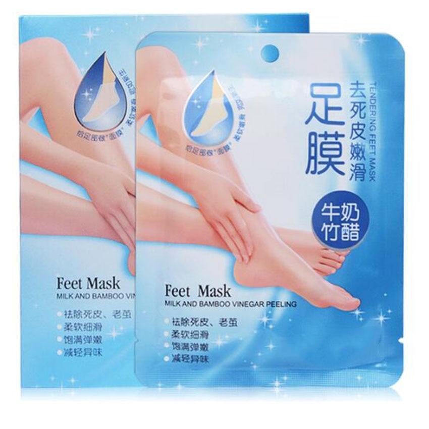 5pairs=10PCS Feet Mask Foot care Milk Bamboo Vinegar Peeling Peels Work 7 days 6 Box of One period Of Treatment