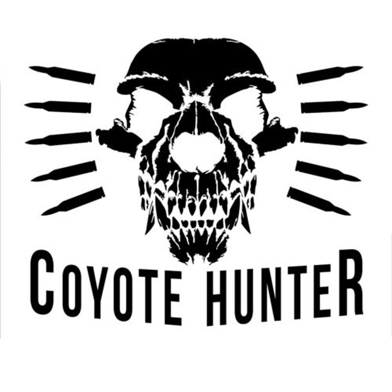 YONGXUN 14.1CM*11.8CM Coyote Hunter Sticker Predator Varmint Hunting Die Cut Vinyl Fun Car Sticker Decals Motorcycle Car Styling