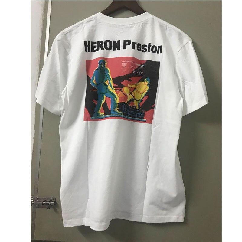 18ss Heron Preston T Shirts Männer Frauen Streetwear Casual Heron Preston Top Tees T-shirt Rot-gekrönt Kurzarm Heron Preston