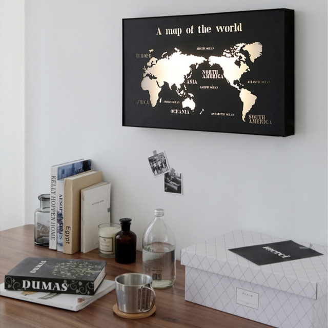 Modern iron world map led wall lamps corridor aisle lights living modern iron world map led wall lamps corridor aisle lights living room bathroom lights interior decorations gumiabroncs Images