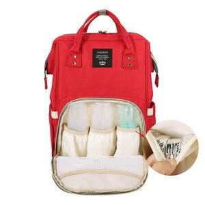Image 5 - 100% 원래 lequeen 패션 미라 출산 기저귀 가방 대용량 기저귀 가방 여행 배낭 베이비 케어를위한 간호 가방