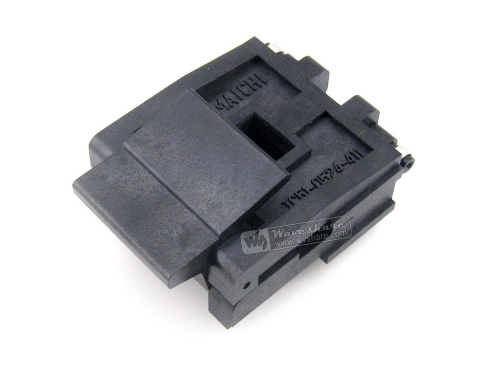 IC51-0524-411-1 Yamaichi IC Burn-in Test Socket  Adapter 1.27mm Pitch PLCC52 Package Free Shipping plastronics 20lq50s14040 ic burn in test socket adapter 0 5mm pitch for qfn20 mlp20 mlf20 package free shipping