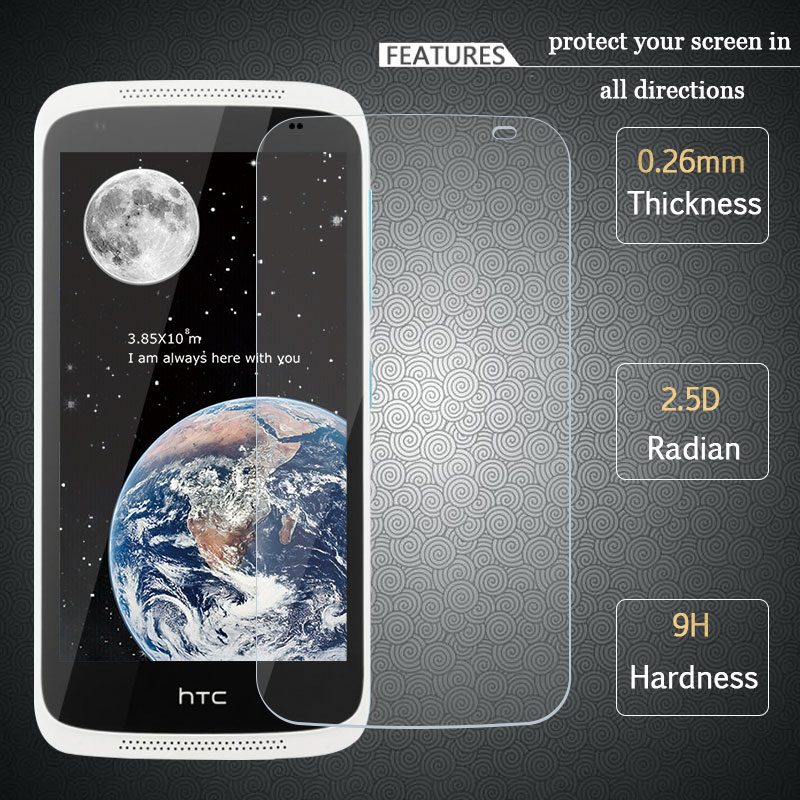 FOR HTC Desire 526 Tempered Glass 2.5D 9H High Quality Screen Protector Protective Film FOR HTC 326G 526 526G 526G 326 4.7