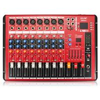 Professional bluetooth DJ Audio Sound Mixing Console 8 Channels Digital Sound Mixer For TV PC Phone