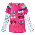 2016 hot sale fashion rose red girl t shirt kid wear roupas infantil meninos All for children clothing accessories enfant