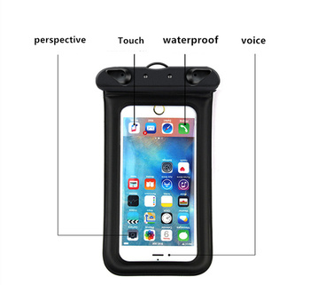 6 Inch Float Airbag Waterproof Swimming Bag Mobile Phone Case Cover Dry Pouch 6