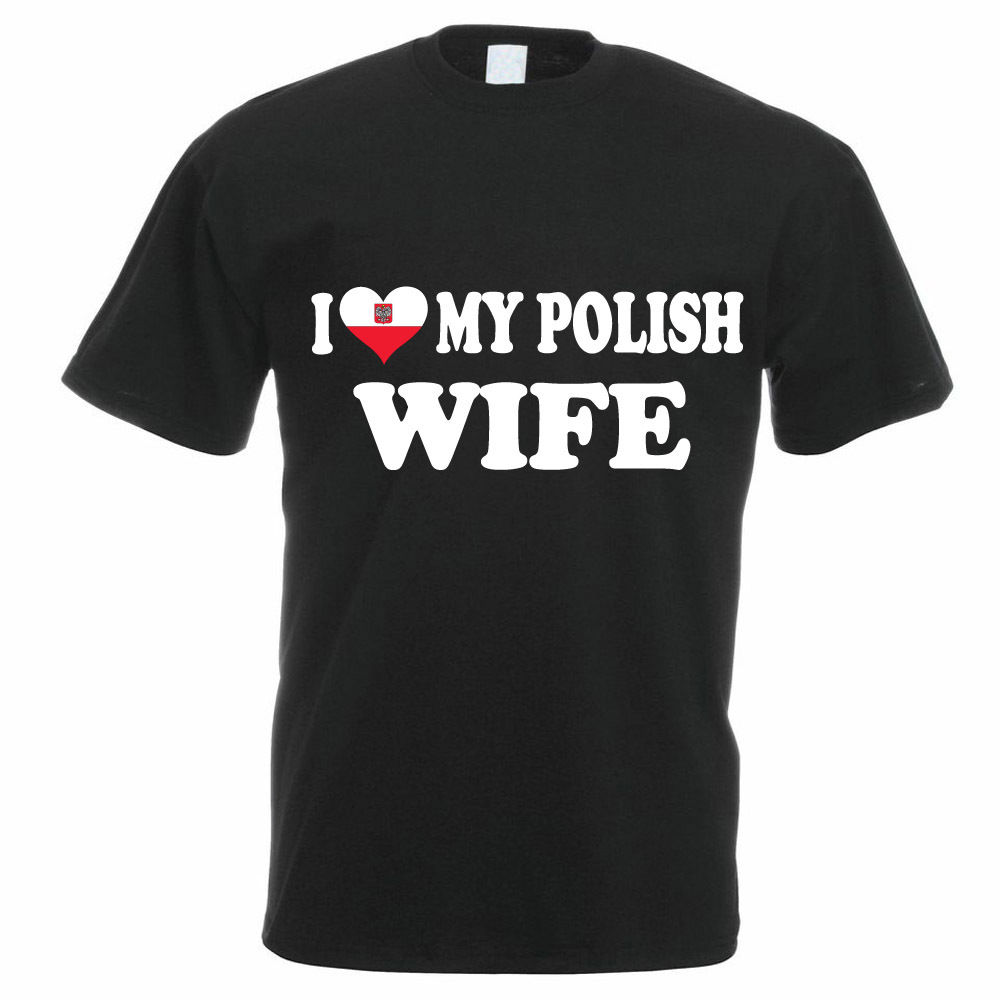 Charming Best Present For My Wife Part - 10: Best Graphic Tees Menu0027S I Love My Polish Wife Poland European Gift Funny  Crew Neck Design