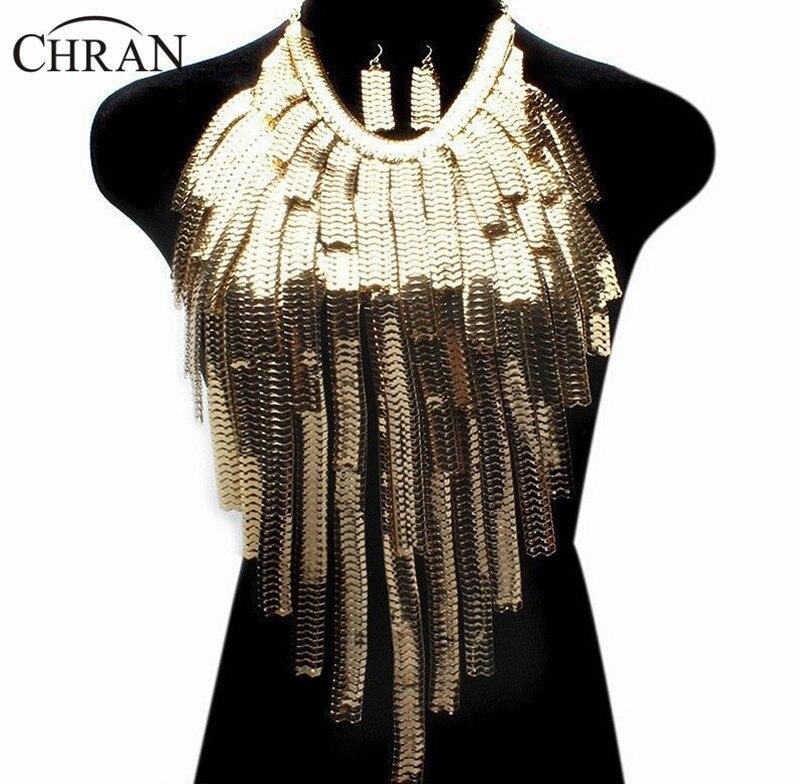 Chran потрясающее сексуальное тело, живот, талия, женское дамское ожерелье чокер с кисточкой, Золотая цепочка, ожерелье, вечерние платья, декор