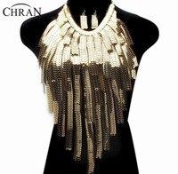 Chran Stunning Sexy del Corpo della Pancia, vita, le donne della signora nappa choker della collana della catena dell'oro della collana del partito del vestito da sera decor ddby251