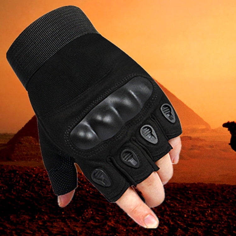 ФОТО High quality protective wear non slip semi finger gloves