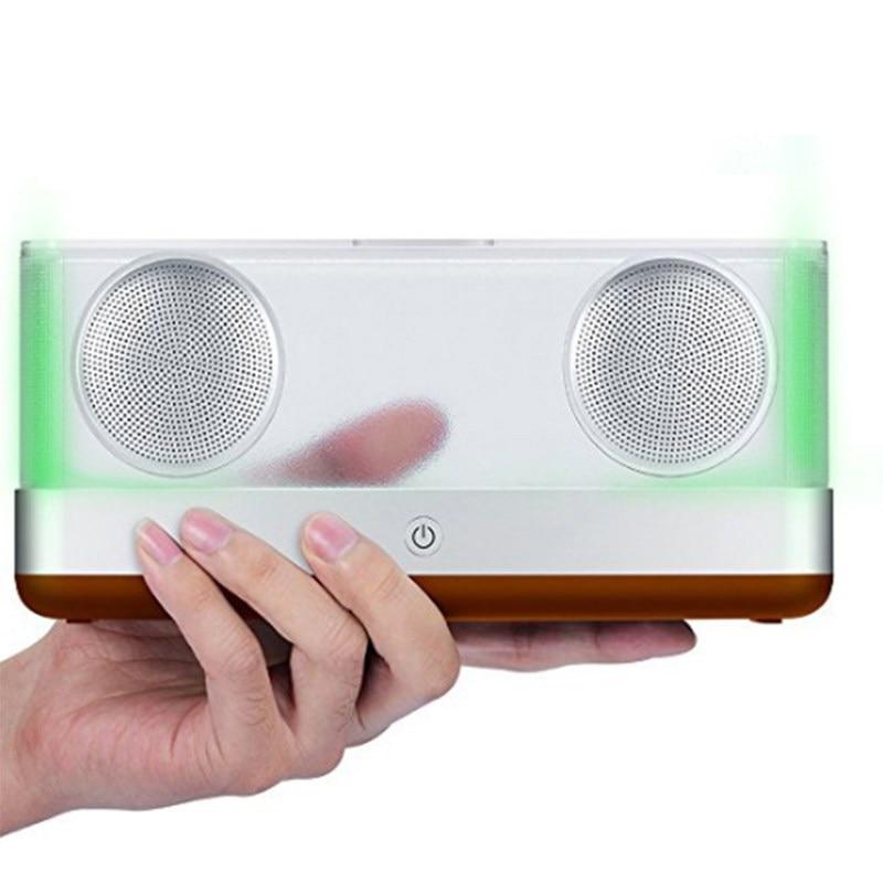 W-king Speakers Portable Bluetooth Speaker Transparent Home System Bluetooth Speaker 4.2 with TF 20W Portable Wireless Speaker ws 980 car model style portable 2 channel rgb light speaker w fm tf black transparent