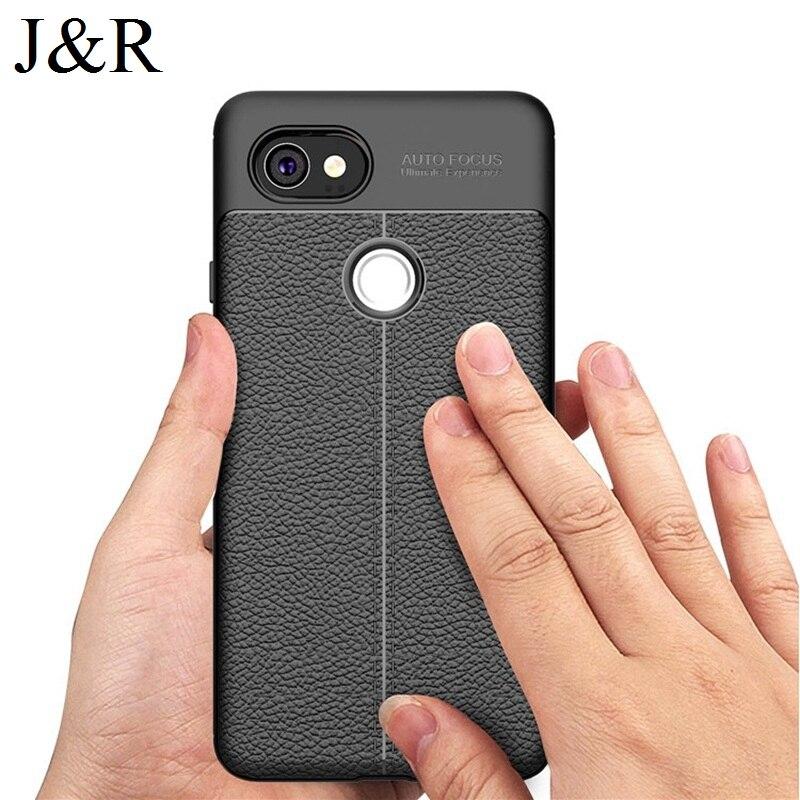 J & R чехол для Google Pixel 2 XL Встроенная крышка Pixel 2XL 6.0 Мягкие TPU Чехол ультра тонкий кожи сзади В виде ракушки Роскошные Защитные Моды