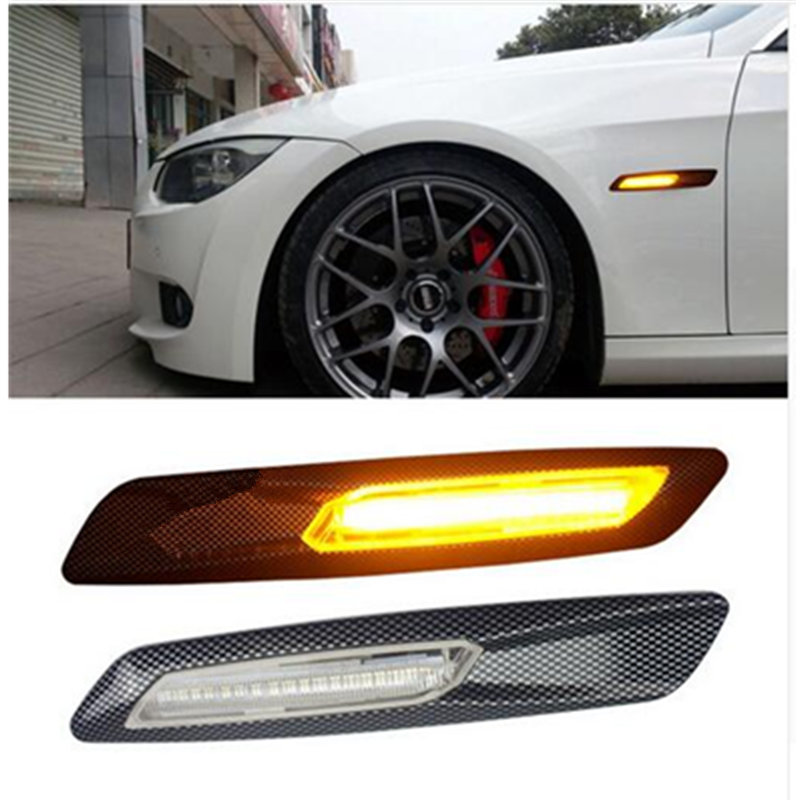 2pcs car LED Side Marker Light Fender Turn Signal Lamp for BMW E81 E82 E87 E88 E90 E91 E92 E60 E61 Accessories