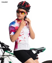 ФОТО 2018 cycling short jersey summer women mtb bike cycling clothing mountian bicycle clothes ropa ciclismo dynamic flowers