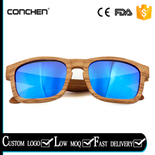 uv400 protection polarized lens with zebra wood frames spring metal hinge square wooden sunglasses