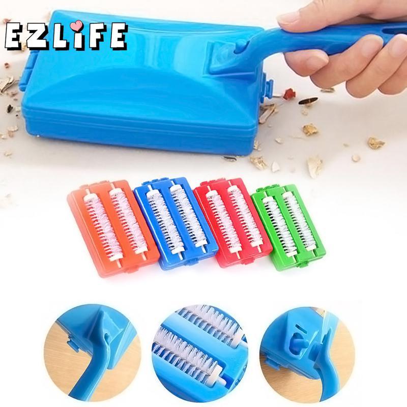 Borstels Hoofden Handheld Tapijt Tafel Veegmachine Kruimel Borstel Cleaner Roller Tool Home Cleaning Borstels Accessaries Zh01557