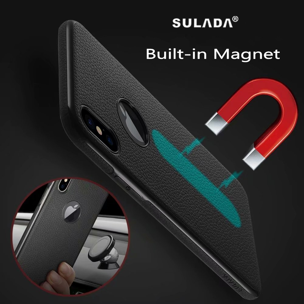 innovative design b097f fb74d US $4.98 |SULADA Classic Series Litchi Skin PU Leather Phone Case For  iphone X / 6S / 6SPLUS / 7 / 7PLUS / 8 / 8PLUS cover Built in Magnet-in ...