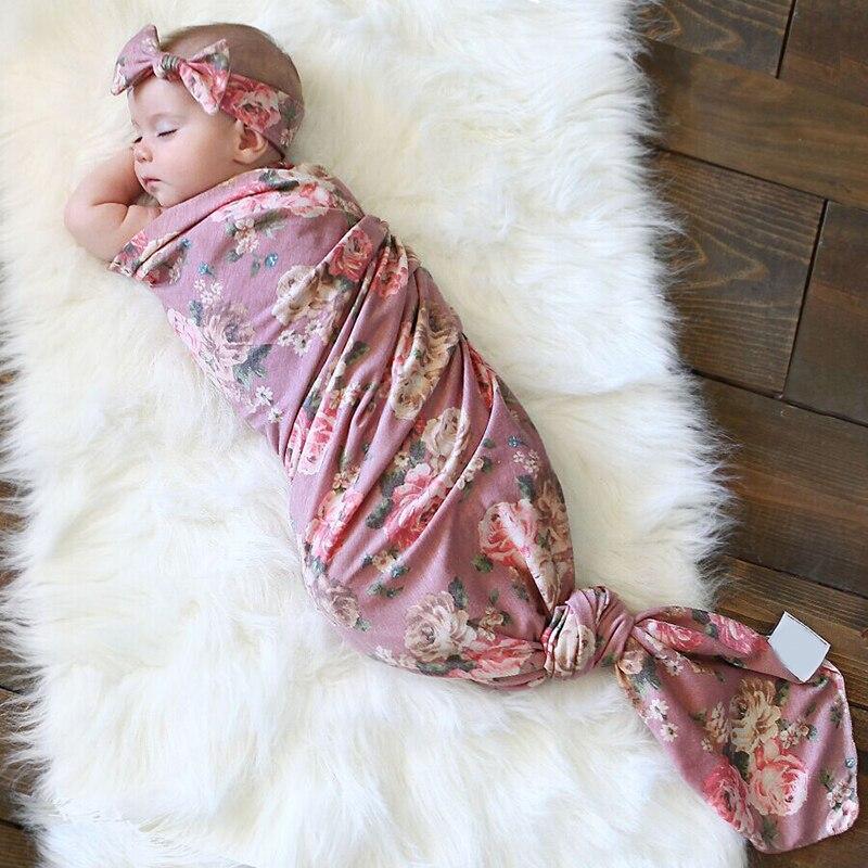 New Toddler Kids Newborn Baby Boys Girls Stretch Wrap Swaddle Blanket Bath Towel Adorable Newborn Baby Floral Plaid Swaddle Set