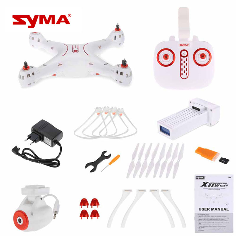 Original Syma X8SW Drone Quadrocopter with Professional Camera FPV HD Remote Control 2.4G 4CH 6 Axis RC Toys Gifts mjx x906t mini rc drone 6 axis gyro quadrocopter rc fpv drone helicopter hd camera wifi mando remote control copter toy