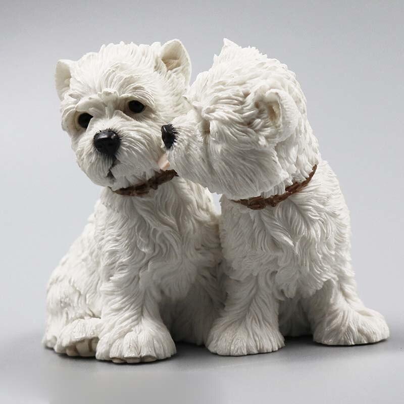 Mnotht 1/6 West Highland Lovers Dog Dog Model Resin Resin Anmial Dog - Խաղային արձանիկներ - Լուսանկար 4