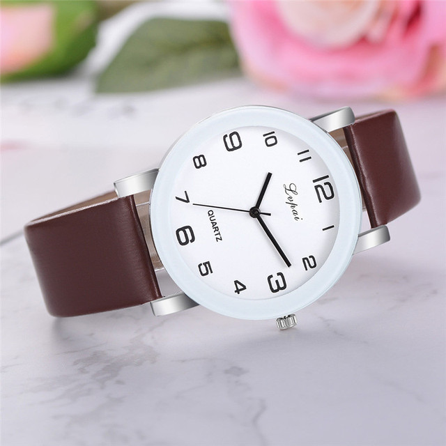 New fashion Simple watch women watches quartz clock leather Watch for women Birt