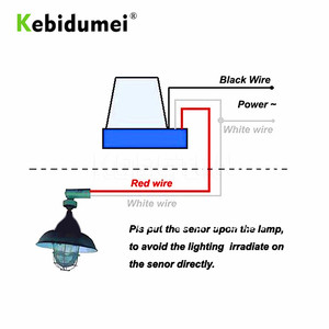 Image 3 - KEBIDU Sensor Schalter Fotozelle Straße Licht Switch Control Photo Automatische Auto On Off 110 v 220 v DC AC 12 v 50 60 hz 10A