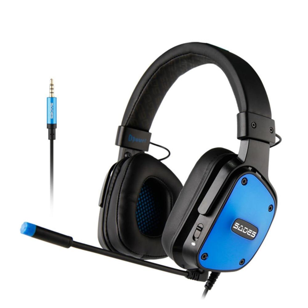 SADES Dpower Gaming Headset 3.5mm Headphones Lightweight Multi-platform For PC/Xbox One/PS4 недорго, оригинальная цена