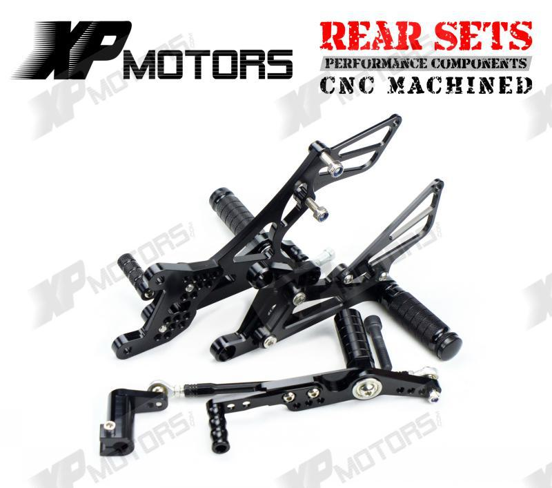 CNC Racing Foot pegs Adjustable Rearset Rear Sets For Yamaha R1 YZF R1 LE 2007 2008 Black