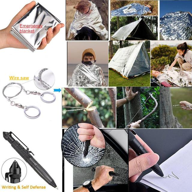 13 in 1 survival Gear kit Set Outdoor Camping 6