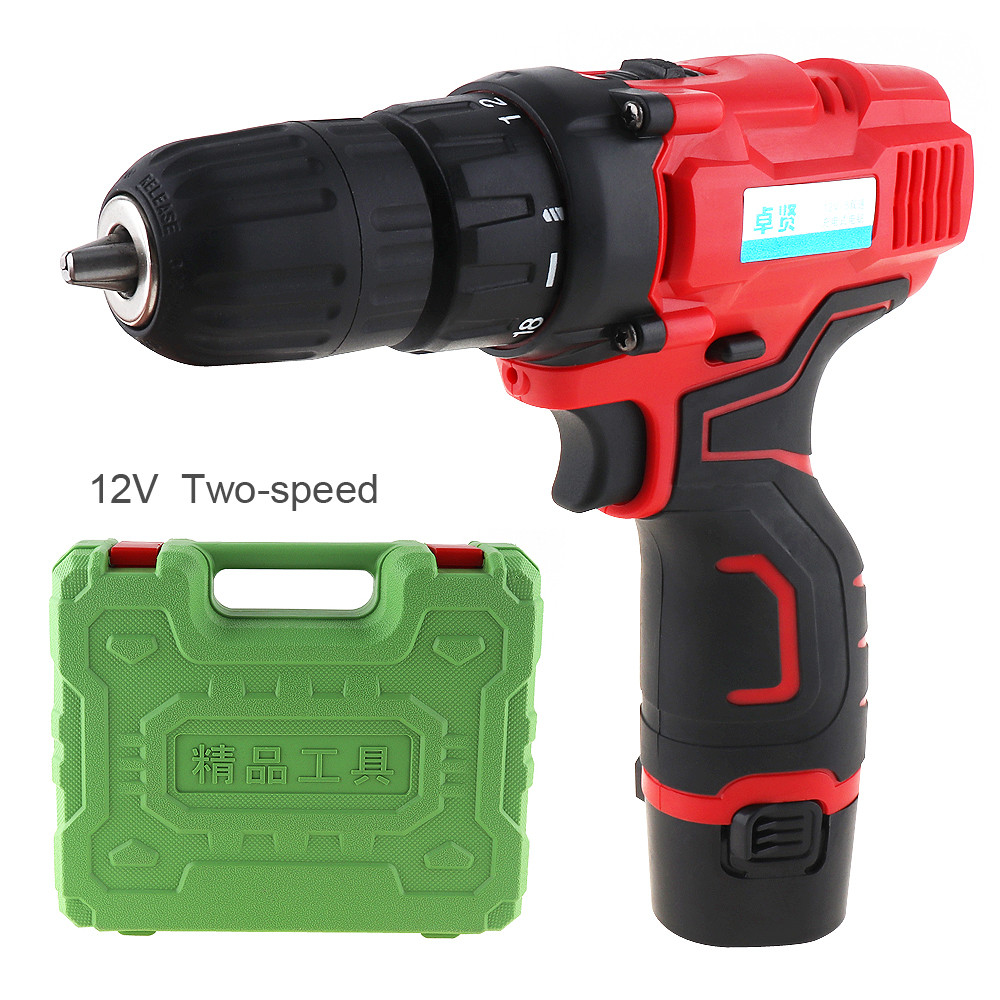 Cordless 12V Two-speed Electric Drill Screwdriver Tool Box with Rotation Switch and Lithium Battery for Handling Screws Punching voto power tool suitcase 12v electric drill dedicated load tool box with 265mm length and 235mm width for electric screwdriver