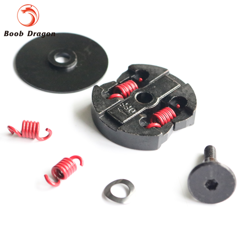 Double spring metal clutch assembly kit for 26CC-30.5CC gas eingine zenoah cy for 1/5 HPI 5B 5t 5sc Rovan KM Losi 16 metal drill press quill feed return coil spring assembly 70mm