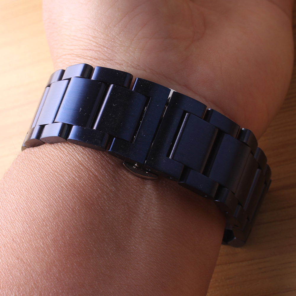 Watchband Strap Bracelet Classic Watchbands Fashion Stainless Steel Watch Accessories Black Dark Bluefor Gear S2 S3 20mm 22mm