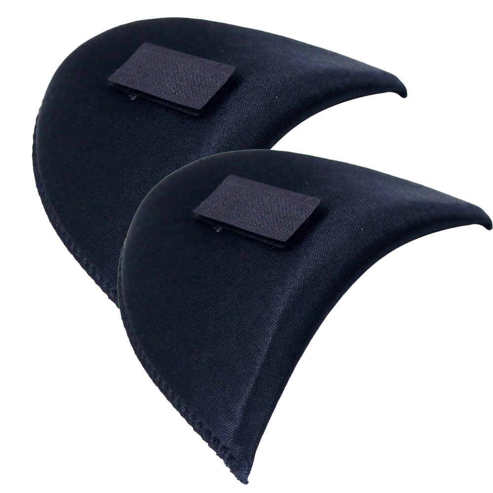 2 Pairs Black Shirt Sponge Shoulder Pads with Sticker Cloth Encryption Pads for Blazer/Tshirt Clothes Sewing Accessories ...